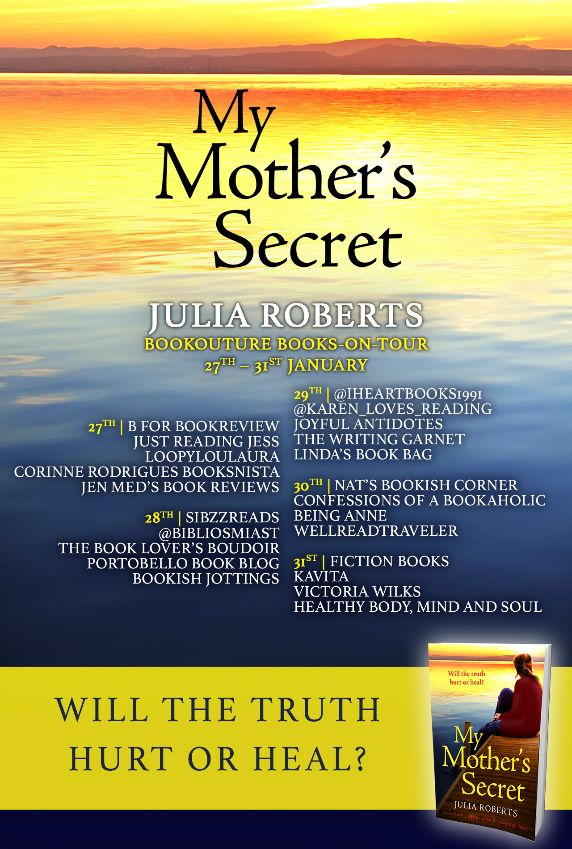 Image of the Blog Tour Banner for the book 'My Mother's Secret' by Julia Roberts
