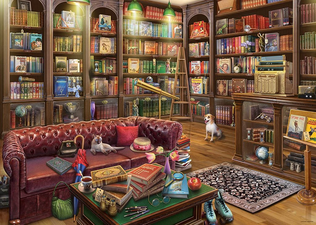 Image of 'The Reading Room' a 1,000 piece jigsaw puzzle by Ravensburger