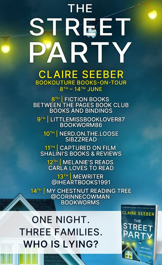 Image of the Blog Tour Banner for the book 'The Street Party' by author Claire Seeber