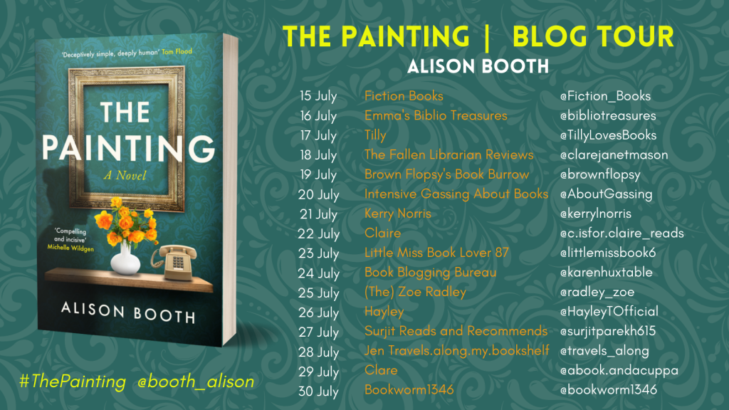 Image of the Blog Tour Banner for the book 'The Painting' by author Alison Booth