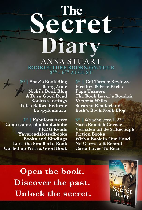 Image of the Blog Tour Banner for the book 'The Secret Diary' by author Anna Stuart