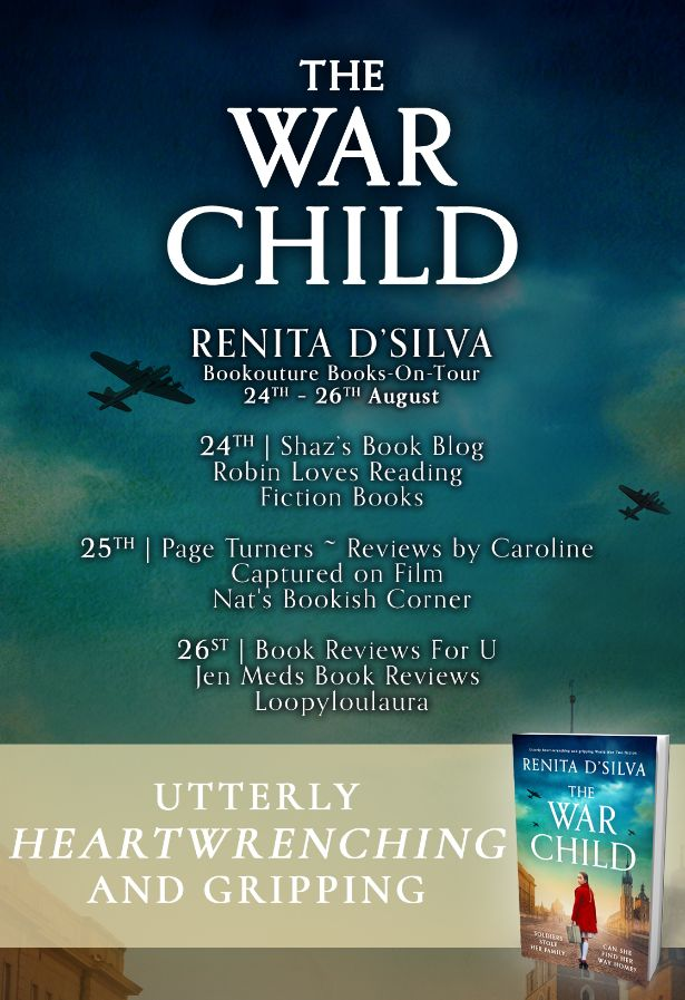 Image of the Blog Tour Banner for the book 'The War Child' by author Renita D'Silva