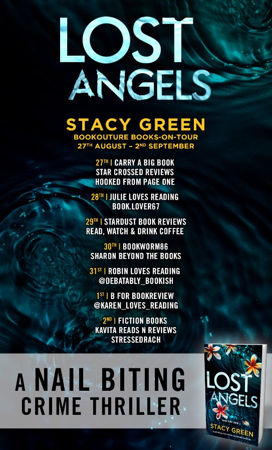 Image of the Blog Tour Poster for the book 'Lost Angels' by author Stacy Green